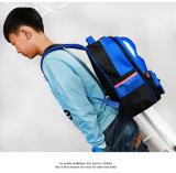 El niño lindo del morral del coche de la historieta de los bolsos de escuela de los niños embroma las mochilas del bolso de libro con la correa de hombro fluorescente