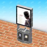 Backlit 도시 공중 광고 알루미늄 단면도 LED 쓰레기통 가벼운 상자를 말기