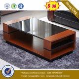 ガラス上の木のコーヒーテーブルの現代居間の家具(UL-MFC0262)