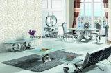 De moderne Eettafel van het Roestvrij staal van het Glas van de Eetkamer Meubilair Aangemaakte Hoogste