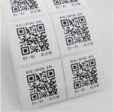 Papierdrucken-Druck-Leerzeichen-anhaftender Aufkleber gedruckter Kennsatz