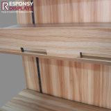 Soporte de visualización de los utensilios de cocina del suelo de la alta calidad hecho por el material de Wood y del metal
