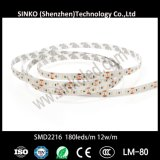 Striscia dell'indicatore luminoso di IP20 12W/M 180LEDs SMD2216 LED per vari negozi