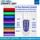 48 W en el exterior de la luz de lavado de pared LED RGB DMX512 Control remoto del puente de acero inoxidable Jardín