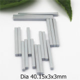 Long personnalisé aimant en néodyme Permanent solide avec revêtement de zinc40.15Dimension X3X3mm
