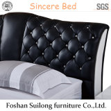 Кровать 1111 американского типа реальная кожаный самомоднейшая