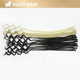 Melhor qualidade de 18 polegadas Backcombed pêlos sintéticos Dreads Preta