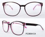 De aangepaste Optische Frames van de Acetaat van het Embleem met Duidelijke Lense