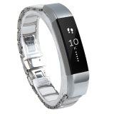 Edelstahl-Uhrenarmband mit keramischer Raupe für Fitbit Alta