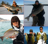 Mouche canne à pêche de carbone de qualité de logo d'OEM