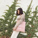 연약한 PU 쇼핑 백 바느질 여자 끈달린 가방