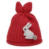 Мода пользовательские Beanie Зимняя Red Hat с логотипом кролика