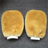 Microfiber, korallenroter Vlies-Auto-Wäsche-Handschuh