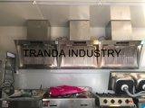 Furgoni elettrici dell'alimento del pranzo del carrello del hot dog della via con la veranda fatta in Cina