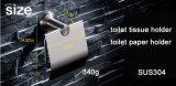 Acero inoxidable del estilo redondo 304 accesorios del baño del sostenedor del tejido de tocador