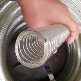 PVC明確な透過鋼線の螺線形水ホース