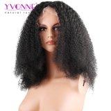 Prix brésilien de Whoelesale de cheveu de vente de Yvonne d'Afro d'enroulement de lacet de perruque crépue chaude d'avant