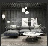 Modulares ledernes EckLoveseats hölzernes Sofa für Wohnzimmer