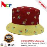 На заводе 100% хлопок пользовательский шаблон печати Рыбак Red Hat ковша