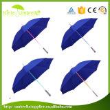 Paraplu's van de in het groot LEIDENE de Lichte Bevordering van de Paraplu Rechte met het Licht van de Flits op Handvat