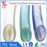 Espiral de PVC de color claro la manguera de cable de acero con alta presión