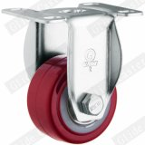 (빨간) 중간 가벼운 의무 PU 스레드 줄기 상단 브레이크 피마자 (두 배 볼베어링) G2202