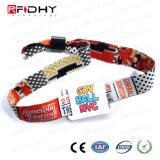 Wristbands descartáveis Printable do plástico RFID dos dados que pode escrever-se da microplaqueta de Desifre
