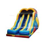Bouncer de salto inflável do dinossauro interessante com corrediça para miúdos