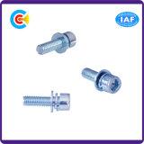 DIN/ANSI/BS/JISの炭素鋼またはステンレス製の青い鍋ヘッド組合せねじ4.8/8.8/10.9個そして白い