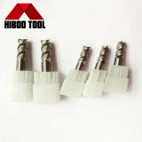 Fraises en bout solides de carbure des prix HRC55 bon marché pour les outils en aluminium de Miling