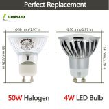 50W équivalent 4W GU10 3W 5W 7W 9W LED Spotlight