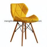 EMS Moderno Sillón plástico madera cromo salón de estilo siglo medio Sillón Mate amarillo