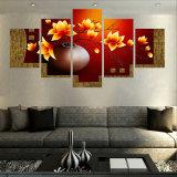نوع خيش جدار فنّ صورة منظر طبيعيّ يشكّل نوع خيش يدهن 5 قطعة زهرة جميل حديثة يعيش غرفة زخرفيّة