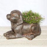Самомоднейший декоративный цветочный горшок собаки для декора стола бонзаев крытого