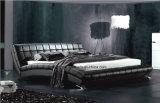 الصين غرفة نوم أثاث لازم [دووبل بد] حديثة مع جلد
