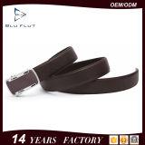 Ledernes Kleid-umschaltbare Metallfaltenbildung-Schaltklinken-Riemen der Männer