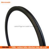 Сверхлегкий 700c углерода дорожного велосипеда обода 38 глубину Clincher углерода дороге велосипед обода