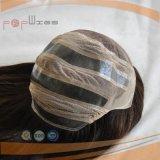 De bruine Ingesloten Pruik van het Menselijke Haar Pu (pPG-l-01468)
