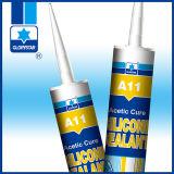 puate d'étanchéité adhésive sèche rapide flexible des silicones 285g pour la glace/guichet
