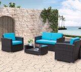 Sofá al aire libre de la oficina del hotel del hogar del jardín del salón de mimbre de Louis del patio (J663)
