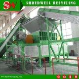Triturador de Pneu de resíduos para reciclagem de pneus usados com eixo duplo