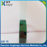0.06 Fita grossa do verde do animal de estimação da fita adesiva do silicone do poliéster