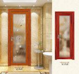 Portello di alluminio caldo della stanza da bagno di vetro di reticolo del venditore di Woodwin (YS80)
