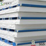 EPS 거품에 의하여 격리되는 강철 샌드위치 지붕 또는 벽면