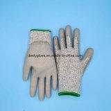 Перчаток вырезывания PU перчатки доказательства безопасности отрезока анти- защитные