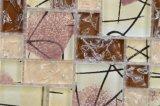De Kolommen van de Tegel van het Mozaïek van het Kristal van Backsplash van de badkamers met Mozaïek