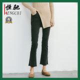 Pantaloni allentati del denim di stirata del cotone sexy di colore solido