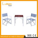 Moderne Lijst 6 Seaters van het Ontwerp van het Gemak Blauwe Verwijderbare en Houten Meubilair van het Terras van de Tuin van de Stoel het Vastgestelde Openlucht