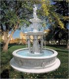 Fontein van het Water van de Tuin van 3 Rijen van het Standbeeld van het Paard van de steen de Witte Marmeren
