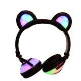 Chargable 무선 건전지 빛을내는 빛 곰 귀 헤드폰